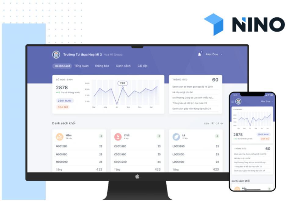 phần mềm quản lý trung tâm giáo dục Nino