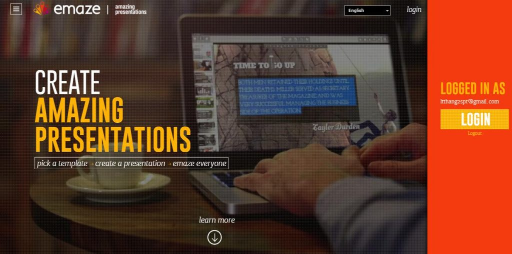 Emaze: phần mềm trình chiếu chuyên nghiệp