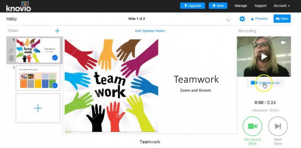 Knovio: phần mềm trình chiếu chuyên nghiệp