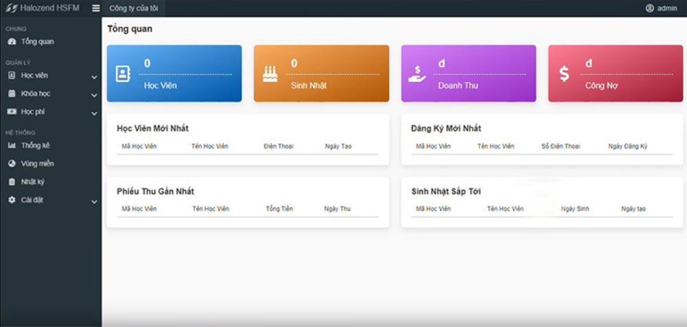 phần mềm quản lý tuyển sinh trường học Halozend